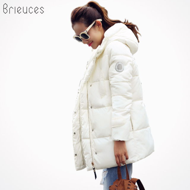 Brieuces 2017 wadded jacket female new winter jacket women down cotton jacket slim parkas ladies winter coat plus size S-XXXL