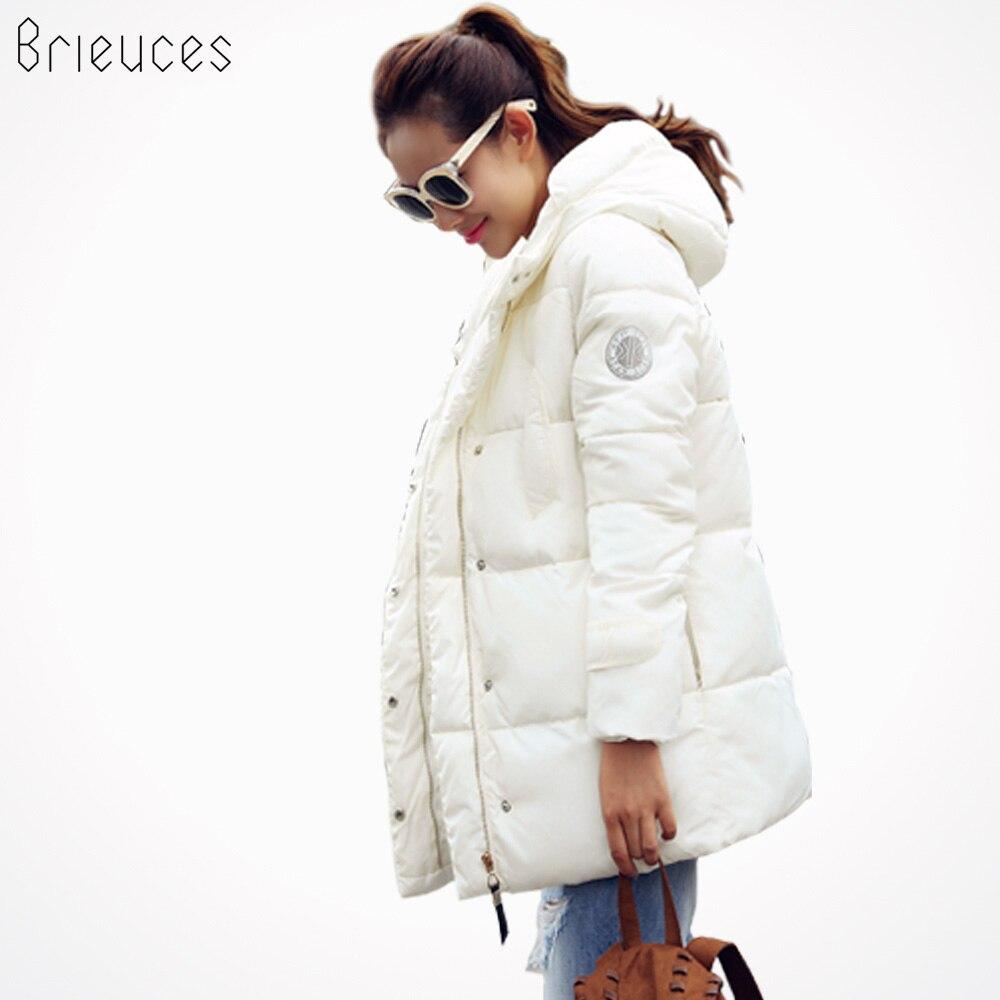 Brieuces 2019 ouate veste femme nouvelle hiver veste femmes vers le bas coton veste mince parkas dames hiver manteau grande taille S-XXXL