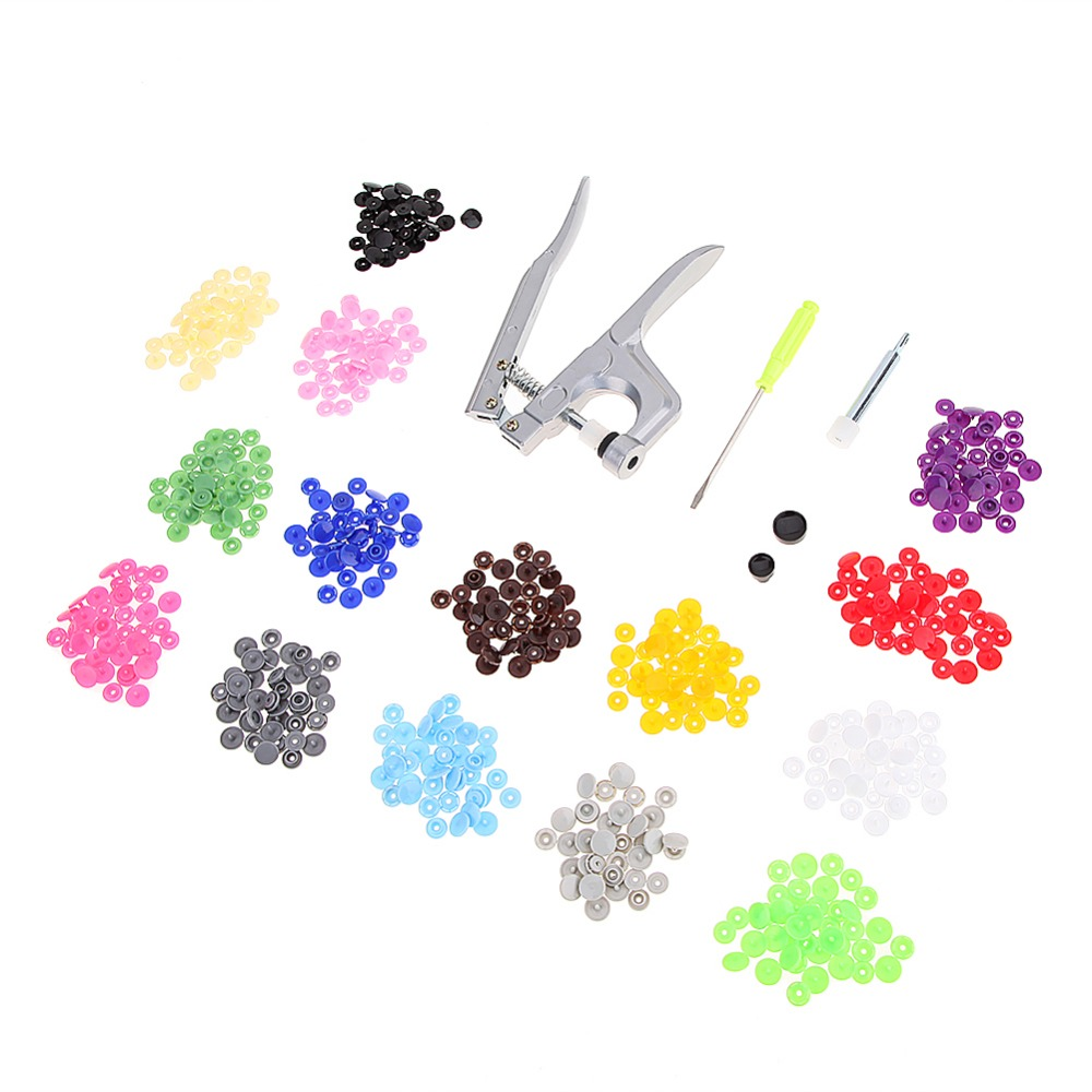 Professionelle Metall Drücken Zangen Werkzeuge für T3 T5 T8 Taste Fastener Schnappzangen Werkzeuge mit 150 stücke T5 Druckknöpfe Nähen werkzeuge