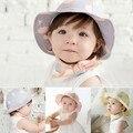 2016 dulce niños casquillo del sol Polka Dot verano exterior bebé de la playa sombrero del cubo