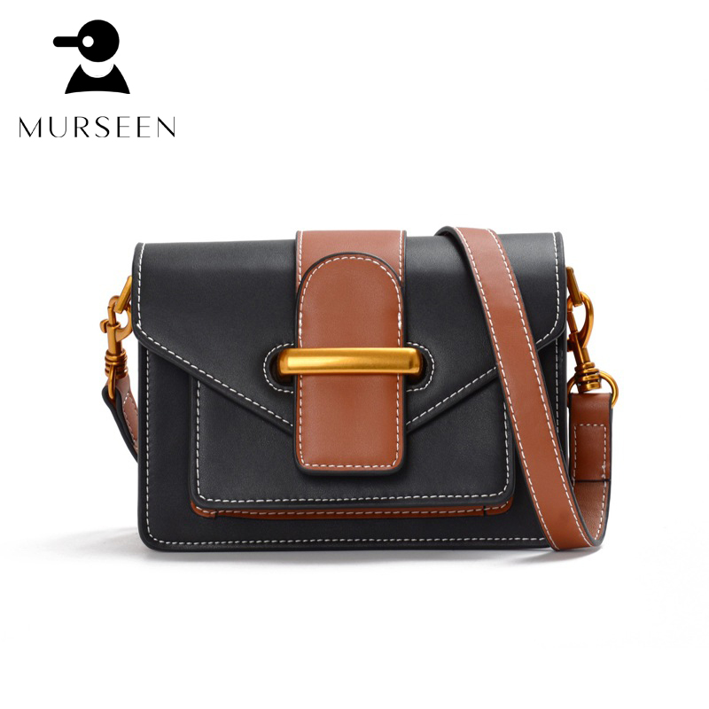 Women luxury genuine leather messenger bags ladies fashion mini crossbody bags female small real leather shoulder bags Black X-7 fashion women messenger bags real leather designer ladies shoulder crossbody bags genuine cow leather small mini bags for women