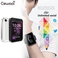 2G Calls Smart Phone Watch Bluetooth Wrist Cellphone Watch SIM Card Plug In Card Record Video/Music