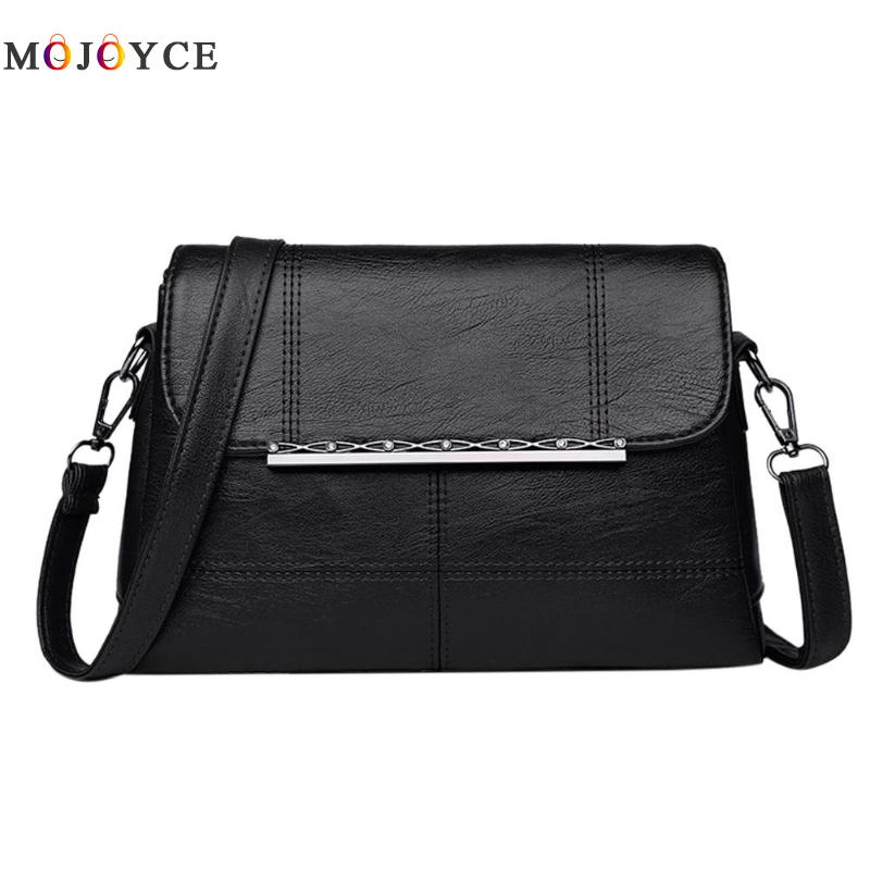 Retro PU Leather Women Shoulder Bags Luxury Brand Flap Messenger Bag Elegant Office Ladies Handbag Bolsa Feminina 2