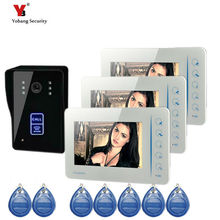 Yobang Security 7inch door camera with 5pcs RFID cards 16 rings video door phone Color Screen Doorbell video intercom doorbell