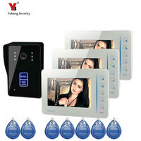 Yobang Security 7inch door camera with 5pcs RFID cards 16 rings video door phone Color Screen Doorbell video intercom doorbell