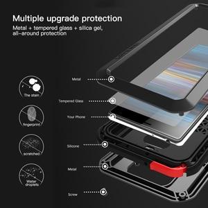 Image 5 - מתכת שריון מקרה עבור Sony Xperia 10 מקרה 360 עמיד הלם מלא גוף כבד החובה מגן כיסוי עבור Sony Xperia 10 בתוספת כיסוי