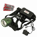 LED Headlamp Cree T6 Waterproof High Brightness 18650 Battery Rechargeable Headlight + Charger 5 Modes Zoomable Torch