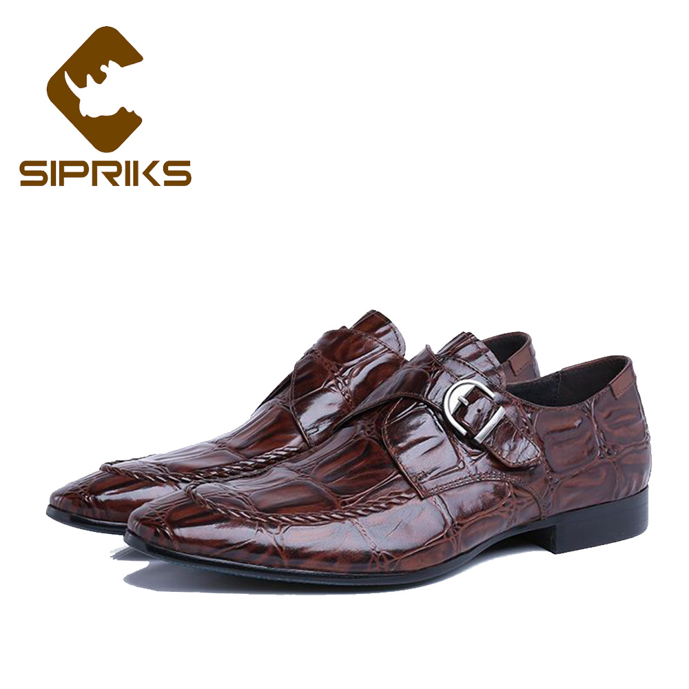 Sipriks Mens Single Monk Strap Shoes Fashion Mens Topsiders Shoes Pointed Toe Real Leather Dress Shoes With Buckle Strap Work sipriks mens single monk strap shoes fashion mens topsiders shoes pointed toe real leather dress shoes with buckle strap work