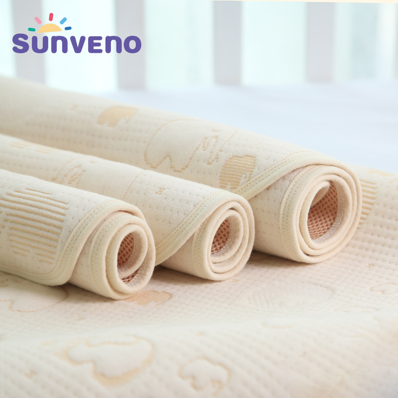 SUNVENO 5 Layers Baby Grass Coral Changing Pads Newborn Baby Changing Pad For Infant Child Bed Waterproof Changing Mat For Crib