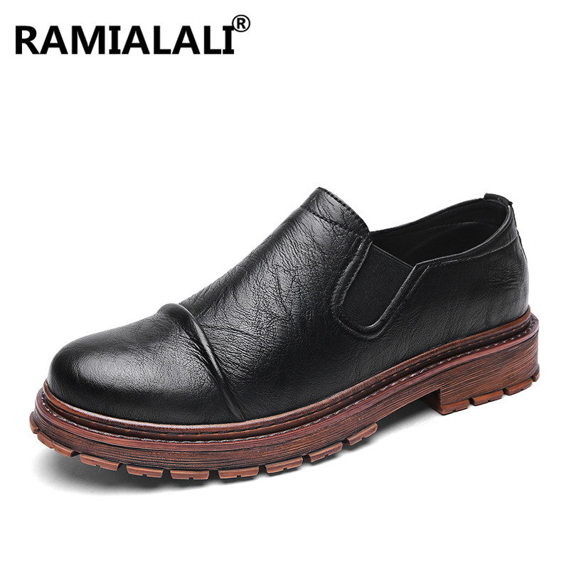 marron Marque De Noir Chaussures Bottes Bota Mode Hommes Véritable Cuir Luxe Ramialali En Masculina gris Mâle nwpq6RWf