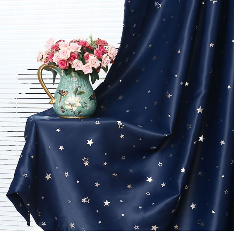 Curtains shining stars children/'s cloth for kids boy girl bedroom living room