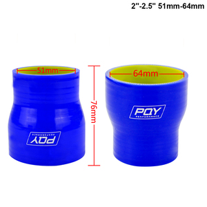 """Image 2 - BLUE & Yellow 2"""" 2.5 2 3 2.48 2.75 2.48 3 2.75 3 3 4 SILICONE HOSE STRAIGHT REDUCER JOINER COUPLING"""
