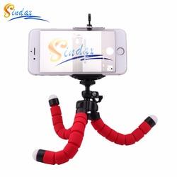 Губчатый Гибкий штатив с держателем для телефона, штатив для телефона для iPhone, samsung, huawei, Xiaomi, Smart Mobile