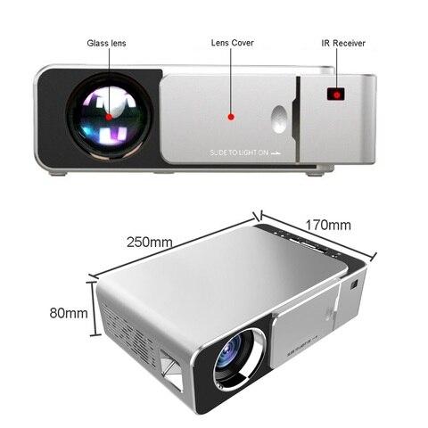 t6 led projetor hd 3500 lumens portatil