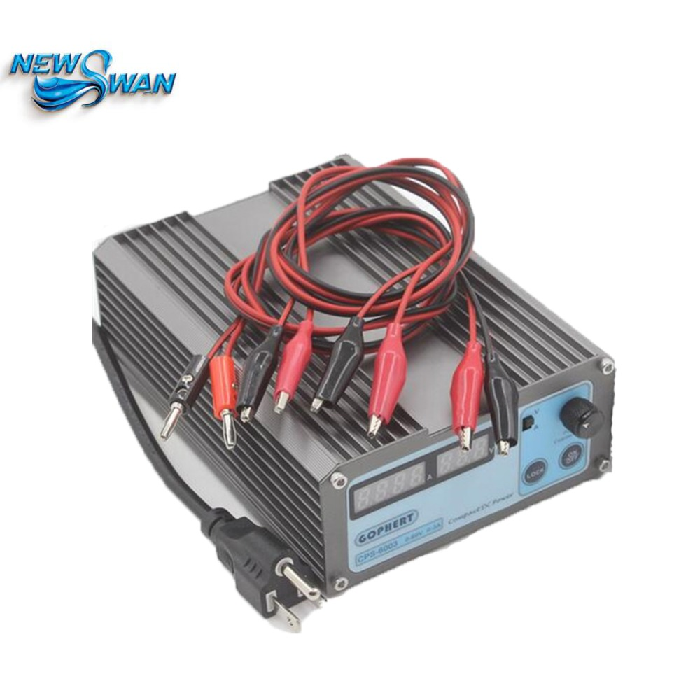 CPS6003 Precision Compact Digital Adjustable DC Current Power Supply CPS-6003 OVP/OCP/OTP Low Power 60V3A 110V-220V 0.01V/0.01A free shipping precision compact digital adjustable mini dc power supply ovp ocp otp low power 60v3a 110v 230v 0 01v 0 01a