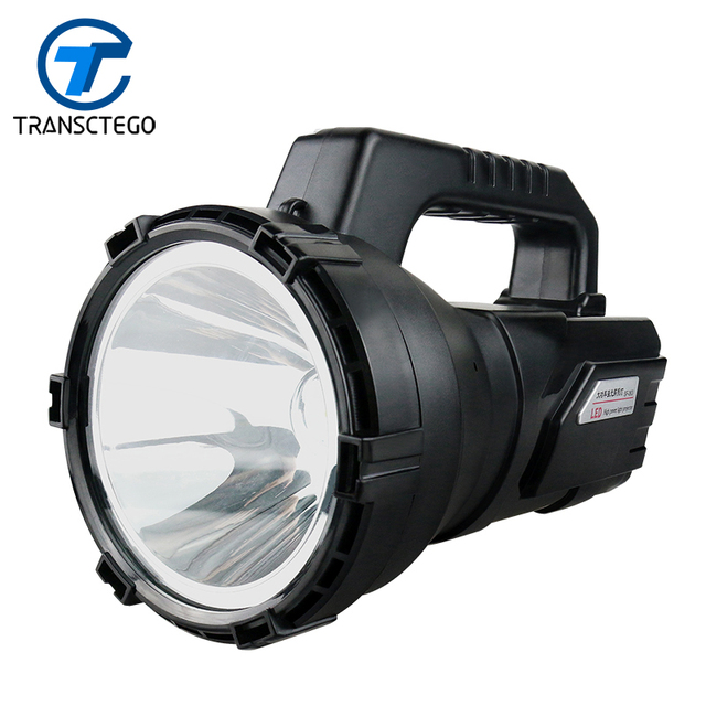 TRANSCTEGO Searchlight LED Rechargeable Long Range Portable Spotlights Outdoor Flashlight Lantern powerful for hunting hiking