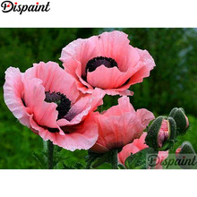 Dispaint Full Square/Round Drill 5D DIY Diamond Painting Pink flower Embroidery Cross Stitch Home Decor A11023