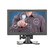 10.1 Inch IPS Touch screen Portable Monitor HD 1280x800 Color Display Screen with AV/VGA/HDMI/USB for PC Security CCTV Camera