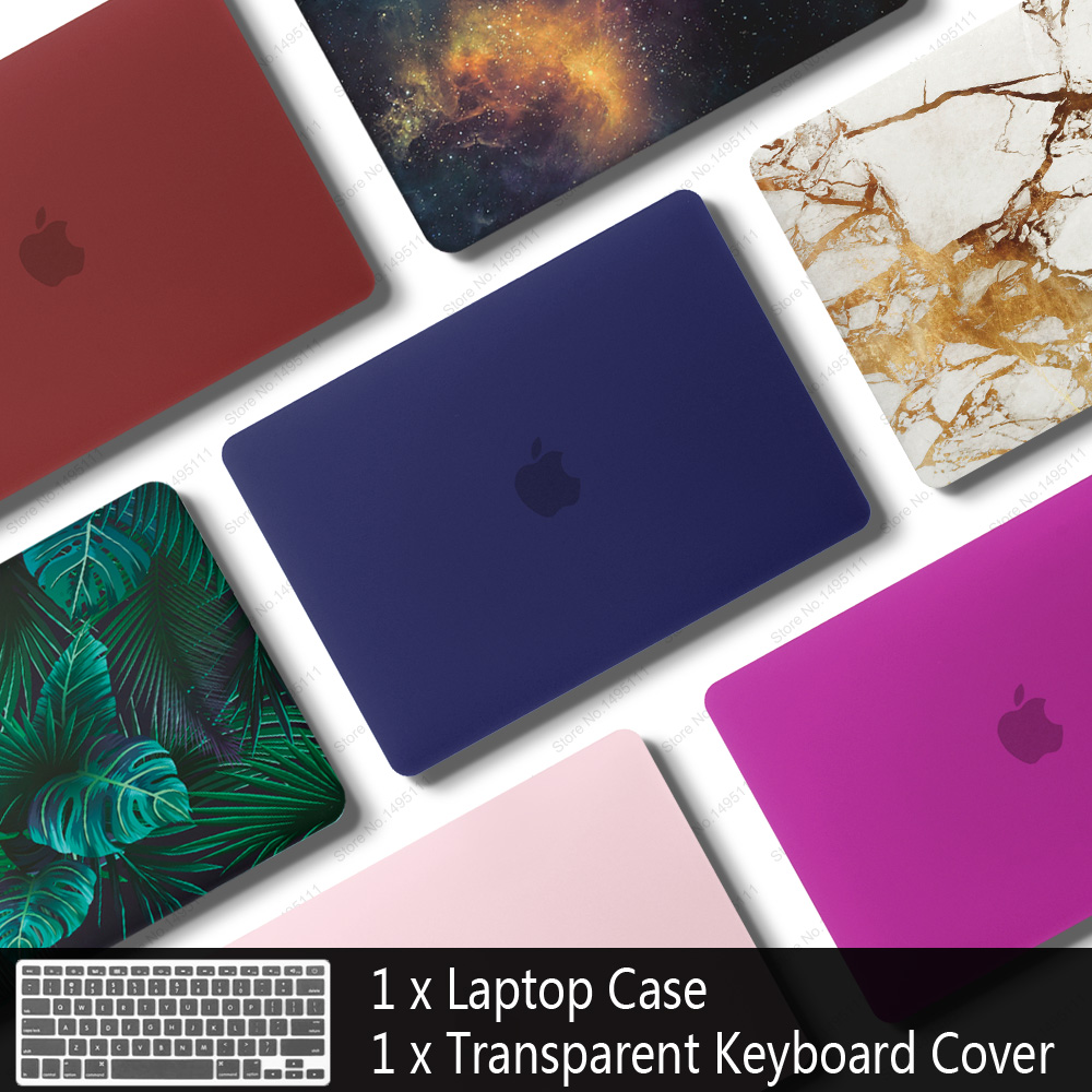 New Laptop Case For Apple macbook Air Pro Retina 11 12 13 15 laptop bag for macbook Air 13 case cover+ Keyboard Cover(China)