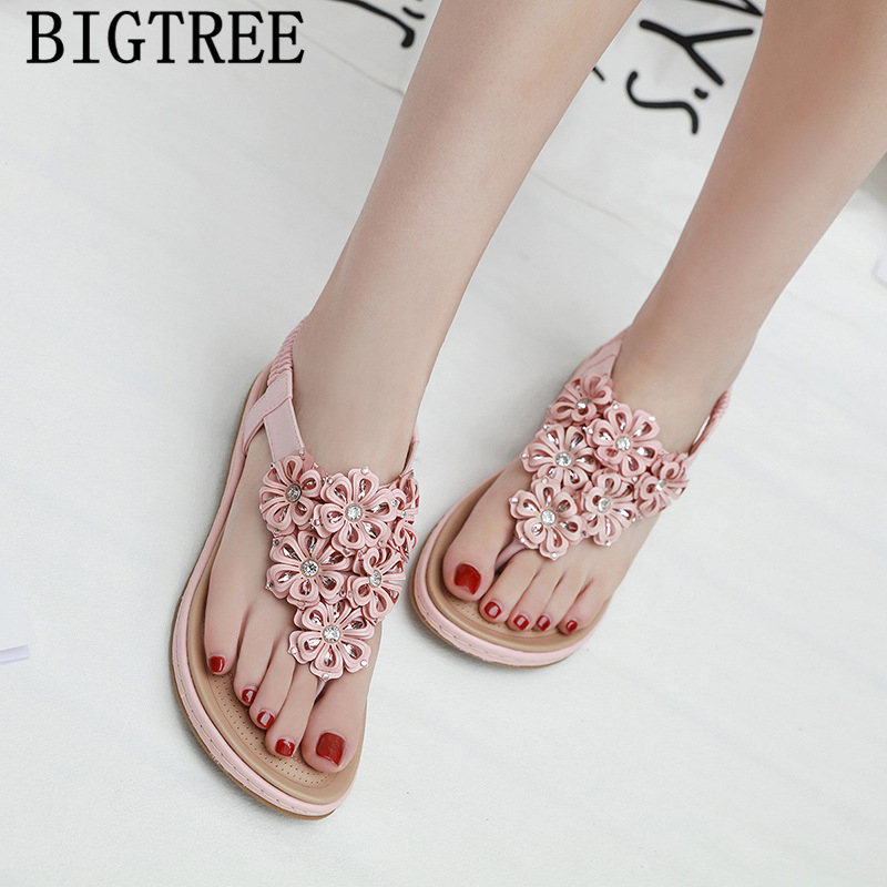 rhinestone <font><b>sandals</b></font> gladiator <font><b>sandals</b></font> women <font><b>flat</b></font> <font><b>sexy</b></font> bohemian <font><b>sandals</b></font> womens shoes summer fashion 2019 chaussures femme zapatos image