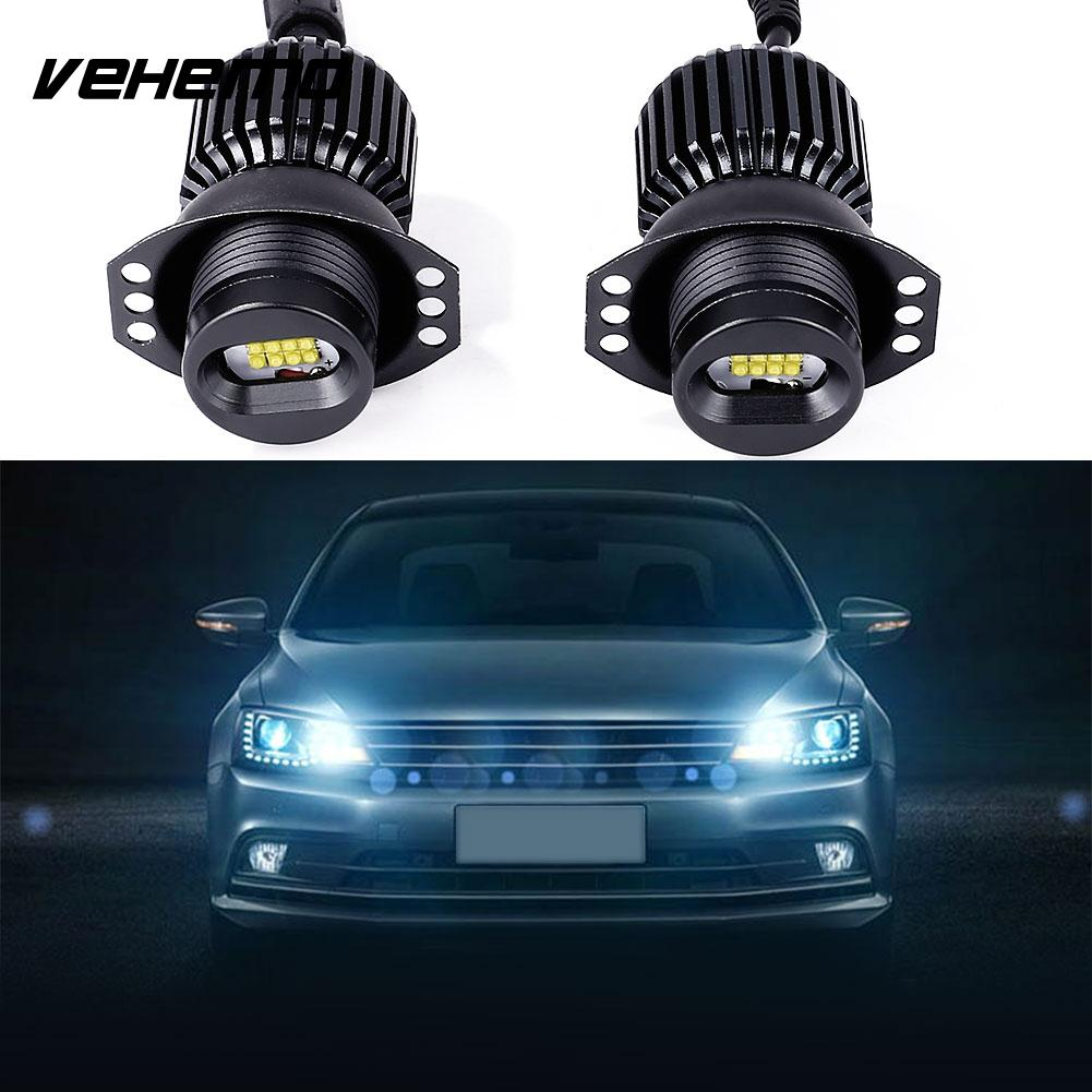 Vehemo 1 Pair DC 12V Car LED Angel Eye Light For BMW E90 Accessories 80W 5500LM