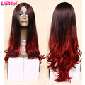 new arrival long ombre red wig hot sale womens wigs synthetic hair cheap wigs for women fashion idol hair perucas cosplay peluca