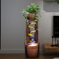 Смола фонтан садовый декор золотой лист фэн шуй для Удачи декоративный фонтан на продажу