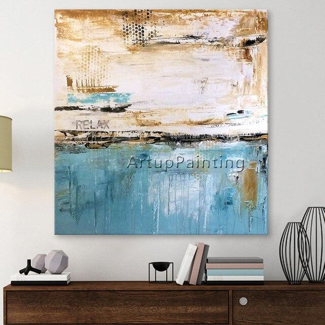 malerei der modernen abstrakten handgemalt auf leinwand. Black Bedroom Furniture Sets. Home Design Ideas