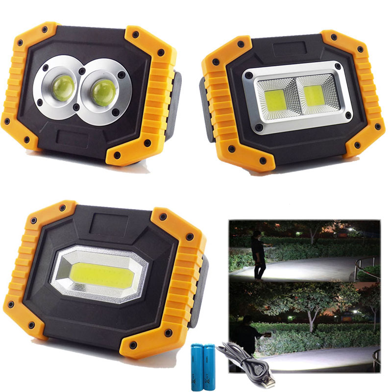 USB Rechargeable COB LED Floodlight Working Light  Outdoor Portable Camping Lamp Garden Tent Spotlight Searchlight 18650 BatteryUSB Rechargeable COB LED Floodlight Working Light  Outdoor Portable Camping Lamp Garden Tent Spotlight Searchlight 18650 Battery