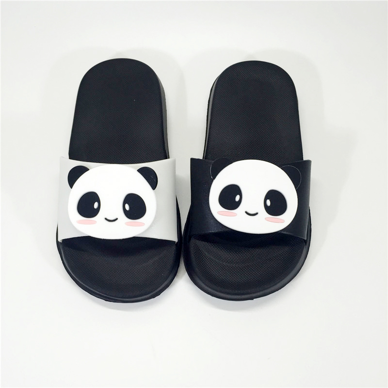 d1b19764c7322 KINE PANDA Little Kids Slippers Girls Boys Toddler Baby Slippers Children  Cartoon Panda Indoor Garden Shoes 3 4 5 6 8 Years Old-in Slippers from  Mother ...