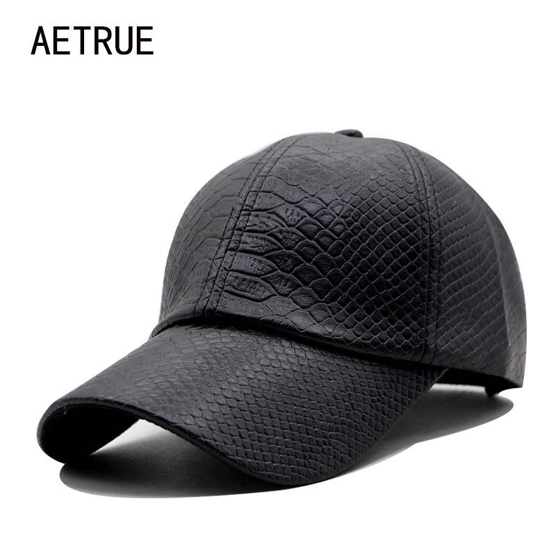 Fashion Leather PU Baseball Cap Men Snapback Caps Women Casquette Brand Bone Winter Hats For Men Gorras Flat Baseball Caps 2017 fashion solid color baseball cap for men and women