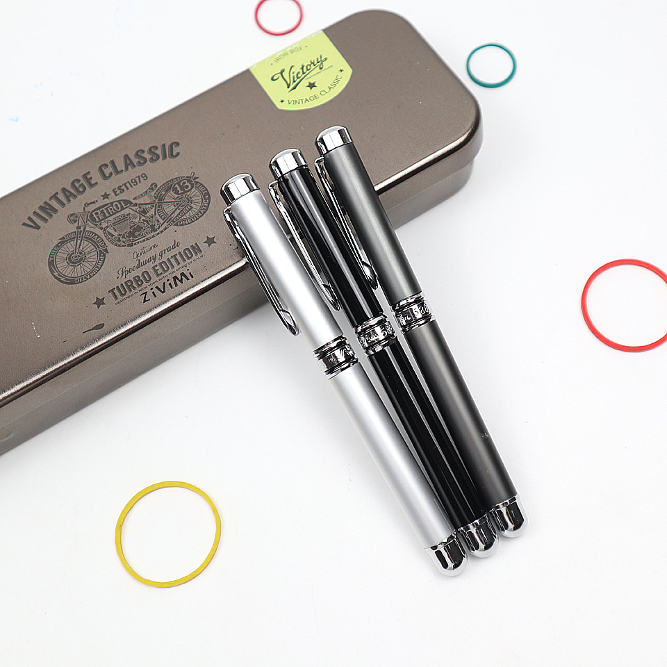 Business Writing Vintage Metal Ballpoint Pen Office Supplies School Stationery