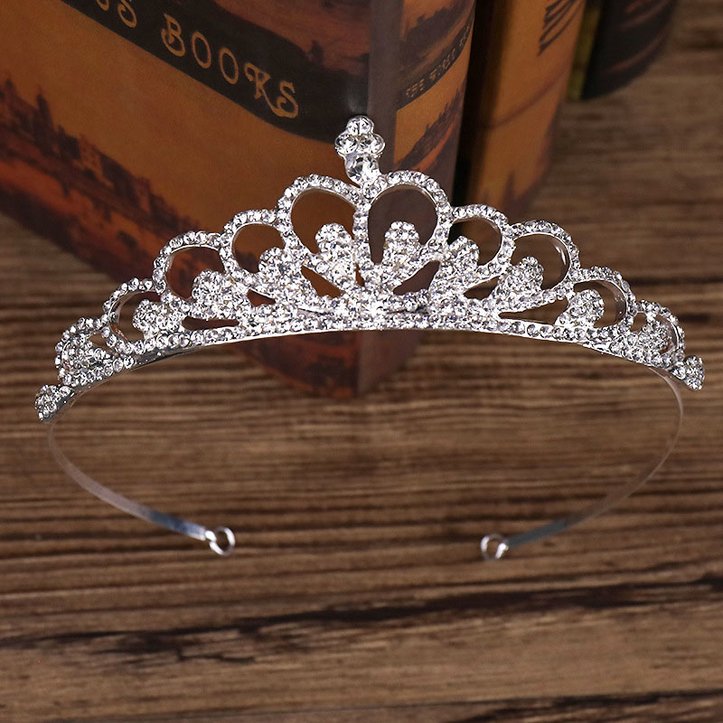 Women Luxury Bridal Crown Wedding Rhinestone Crystal Hair Headband  Tiara Prom Pageant for Girl or Women LB