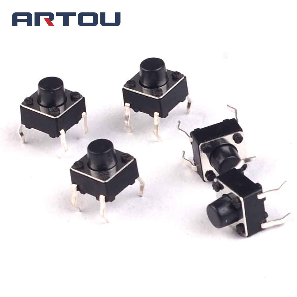 50PCS Tactile Push Button Switch Momentary Tact 6x6x6mm DIP 6*6*6mm 6mm*6mm*6mm