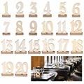 1 20/pack Holz partei tabelle anzahl tag ständer hochzeit tabellennummer halter rustikalen hessischen hochzeit tisch deco|decoratio|   -