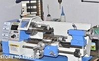 Mini torno de Metal para procesamiento de madera  torno de velocidad Variable  Micro torno  máquina de trabajo de Metal LV180X300