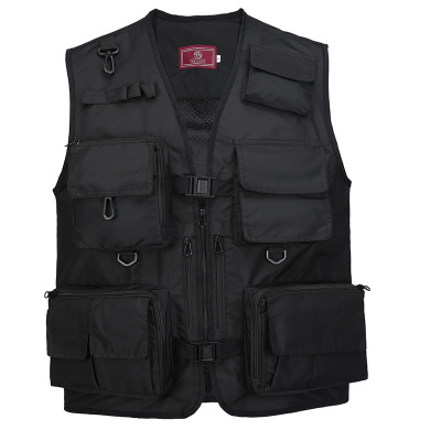 The Middle  Men's Vest V-neck Photography Vest Outdoor Hiking Mesh Vest Male Sleeveless Jacket Multifunctional Fishing Vest
