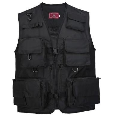 The Middle  Men's Vest V-neck Photography Vest Outdoor Hiking Mesh Vest Male Sleeveless Jacket Multifunctional Fishing Vest