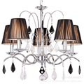 Lustre de Cristal Chandeliers E14 5 Arms Modern Crystal Chandeliers Lustre De Cristal Lustres Abajur Chrome Cloth Lamp Light