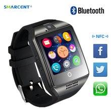 Получить скидку Bluetooth Smart часы с Камера Facebook Whatsapp Twitter синхронизации SMS Smartwatch Поддержка SIM карты памяти для IOS Android pk DZ09 x1