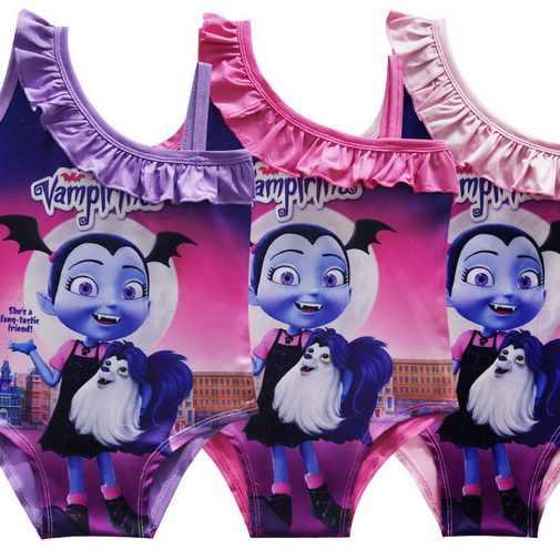 Vampire Vampirin Kids Swim Wear For Girls 2019 Cute Pony Swimwear 1Pc Mermaid Swim Wear Beach Baby Girl Swimsuit Party B