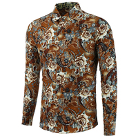 Floral Beach Shirts For Men Branding Clothes High Quality Mens Shirts Slim Fit Mens Shirts Plus