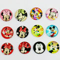 24X 12mm cartoon mickey pattern Round  Handmade Photo Glass Cabochons & Glass Dome Cover Pendant Cameo Settings