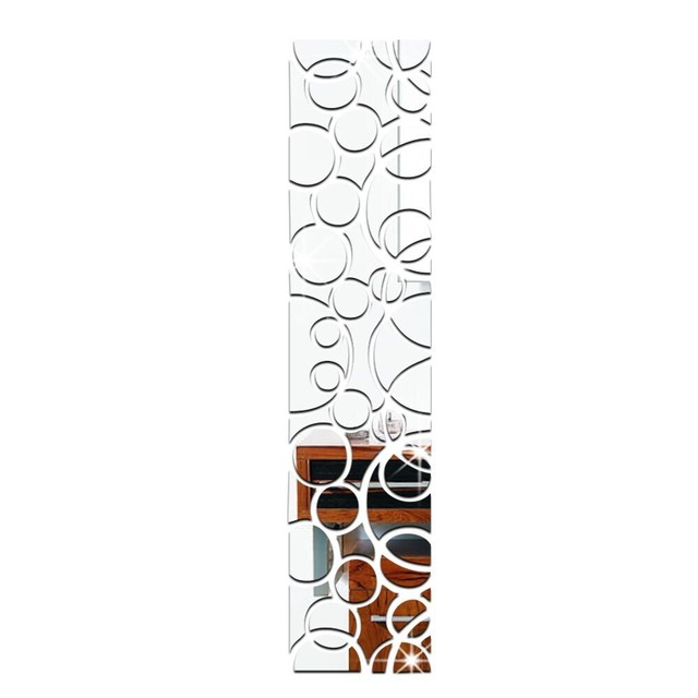 Specchio acrilico wall stickers fai da te decor adesivo quadrato specchi adesivi per la - Specchi adesivi da parete ...