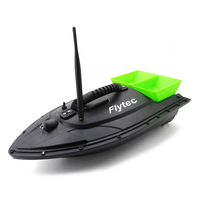 Flytec 2015 5 Intelligent Double Bait Remote Control Fishing Boat RC Double Body Throw Feed Dipping RC Bait Boat Toy
