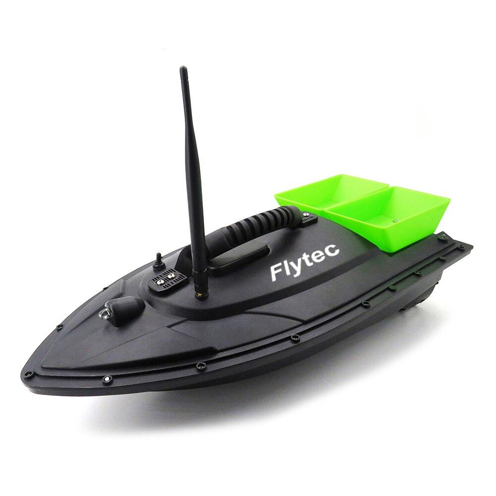 Flytec 2015-5 Intelligent Double appât télécommande bateau de pêche RC Double corps jeter alimentation trempage RC appât bateau jouet