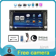 """2016 Nuevo 6.2 """"Pantalla táctil de coches reproductor de dvd 2din en el tablero de navegación gps Bluetooth USB SD FM TFT soporte de visión trasera de entrada de cámara"""