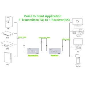 Image 5 - Émetteur récepteur dextension HDMI adaptateur 20km par câble Fiber SC, avec IR, fibre de Mode Signal/Fiber multi mode, N TXs à N RXs livraison gratuite