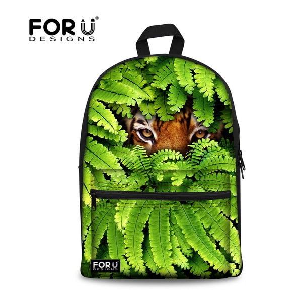 Stylish 3D Children Animal Tiger Head Backback Preppy Style Backpack for Men Large Teenager Boys Lion Travel Backbag School Bag