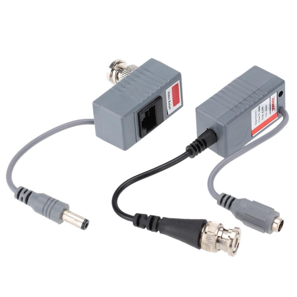 Network CAT5 to Camera CCTV BNC Video Balun Transceiver